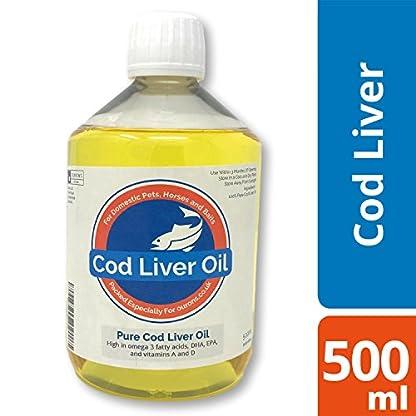 Pure Cod Liver Oil Liquid for Dogs - 500ml 1