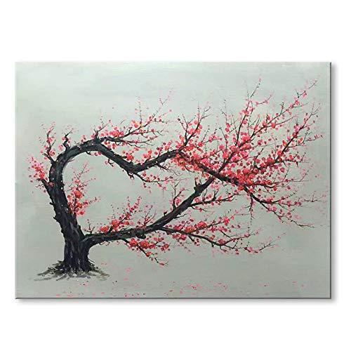 XSHUHAN Pintura Al Óleo Pintada A Mano Pintado A Mano Moderno Una Pintura Al Óleo De Melocotonero Sobre Lienzo Arte De La Pared, 60×120 CM