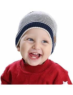 Happy Cherry Baby Ohrenwützer Mütze Kindermütze Kind Warme Herbstmützen Kinder Jungen Mädchen Strickmuster Mütze...