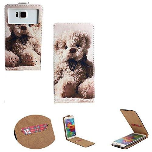 Handy Hülle für - Umi eMax Mini - Flip Tasche mit Kreditkartenfach - Flip Nano M bär 1