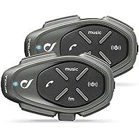 Cellularline INTERPHOTOURTP Bluetooth Auriculares Manos Libres para Casco Moto Dual, Negro