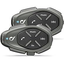 Cellular Line Tour Twin Pack Interfono da Moto con Bluetooth, Nero