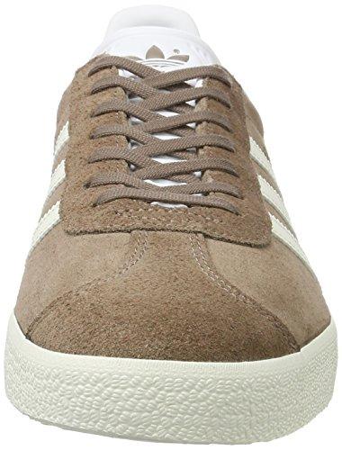 adidas Gazelle, Scarpe da Ginnastica Basse Uomo Marrone (Trace Brown/off White/footwear White)
