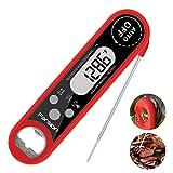Parsion Parsion Digital Fleischthermometer Instant Read Grillthermometer Küchenthermometer, IPX7 Wasserdicht und LCD Bildschirm, Bratenthermometer Haushaltsthermometer Ideal für Braten, BBQ, Baby-Ernährung