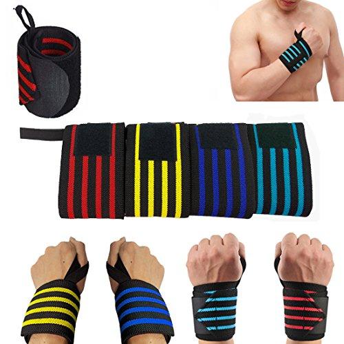 1x Yellow Power Levantamiento pesas Wrap Wrist Gym