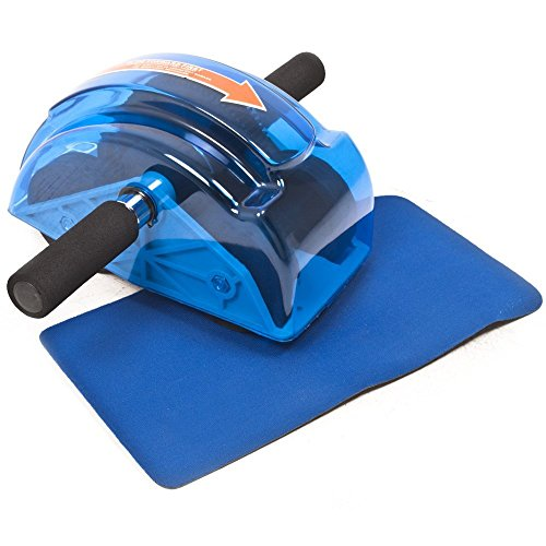 Bulfyss Roller Slide Abdominal Chest Arms Exercise Fitness Home Gym Equipment with 4 Wheel Gear System (Includes free knee mat)