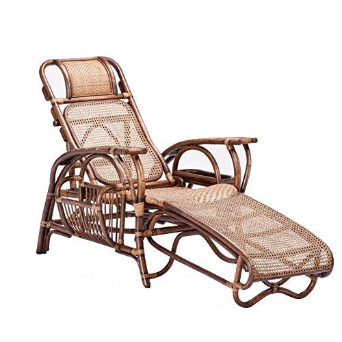 GWW Sommer-Chaise lounges,Freizeit faltung Deck stühle ältere liegestühle für die terrasse im freien Garten Garten Balkon,Traglast 150kg,Hand gemacht,Cool atmungsaktiv-A - Chaise Für Die Terrasse Lounge