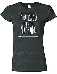 You Know Nothing Jon Snow Frauen Damen Mädchen passten T-Stück T-Shirt Sweatshirt Top Neues Design Tee T-Shirt S M L XL XXL Viele Farben & Größen erhältlich von SnS apparel