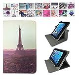 "Case Cover für Samsung GALAXY Tab Active2 8.0 T395N 8"" Tablet Schutzhülle Etui mit Touch Pen & Standfunktion - 360° Paris sun 2 7 Zoll"