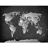 Tapisserie Photo Carte du monde 352 x 250 cm Laine papier peint Salon Chambre Bureau Couloir décoration Peinture murale décor mural moderne - 100% FABRIQUÉ EN ALLEMAGNE - 9088011b