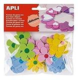Formas de goma eva adhesivaForma : FloresCantidad : 40 u/bolsaColor : azul, rosa, amarillo y verdeGrosor: 2mm.¡¡¡¡¡ Formas adhesivas de goma eva para realizar y decorar infinidad de manualidades !!!!!
