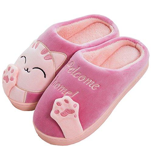 Rojeam Cute Christmas Slipper Warm Slippers Soft Plush Novelty Slippers Slippers