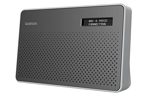 Goodmans Portable Digital/DAB & FM RDS Radio Mains and AA Battery Powered with Headphone Socket in Steel