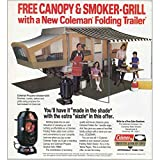 RelicPaper 1982Coleman Zusammenklappbar Trailer: Betthimmel und Smoker Grill, Coleman Print AD
