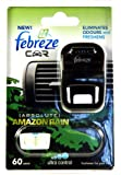 FEBREZE CAR ELIMINATES ODOURS AND FRESHENS - AMAZON RAIN BREATHE IN AND ENJOY THE FRESH SCENT OF A RAINFOREST ENHANCED WITH A TOUCH OF LIME
