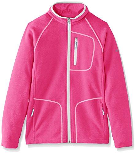 Columbia Kinder Fast Trek Ii Full Zip Fleece, Rot (Haute Pink/Cirrus Grey), XXS (Kinder Full Zip Fleece)