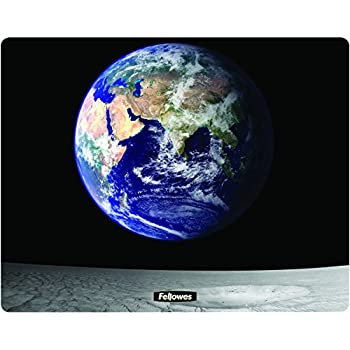 Fellowes Square Brite Mat Mouse Pad Earth And Moon