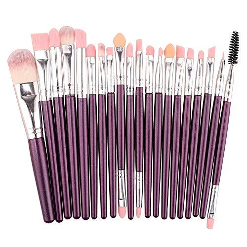 Makeup Brushes,Professionnelle Kits ,Ensemble De 20 Pinceaux pour Le Maquillage, Ensemble De Toilette, Trousse De Toilette en Laine, Brush Beauté Maquillage