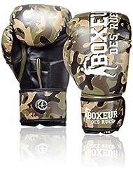 Boxeur Des Rues Fight Activewear Guantes de boxeo verde Camouflage Talla:10 Oz