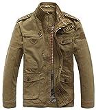 Homme Mode Printemps Automne Coton Militaire Veste Voler Bomber Blousons Outdoor Manteaux Multi-poche Jackets Blousons XS-5XL (FR XL/Tag 3XL, Armée Verte)