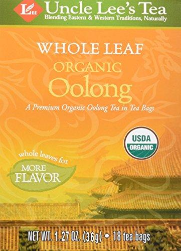 Uncle Lee Tee, 100% Organic Oolong Tee, Whole Leaf, 18 Teebeutel, 1,27 Unzen (36 g) -