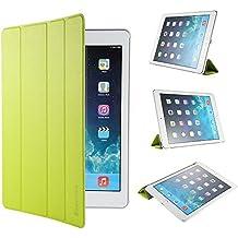 iPad Air 2 Hülle, EasyAcc Ultra Slim iPad Air 2 Hülle Case Cover Schutzhülle Bumper Lederhülle Flip mit Standfunktion / Auto Sleep Wake up für iPad Air 2 / iPad 6 (Modell Number A1566/ A1567) - Grün, Ultra Slim