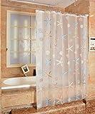 FuXing Duschvorhang Anti Schimmel und Wasserdicht Duschvorhänge Korallenfisch PEVA Badvorhang Duschvorhaenge180 x 200 cm (Seestern)