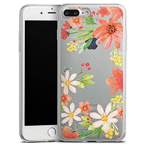 Apple iPhone 8 Slim Case Silikon Hülle Schutzhülle Blumen ohne Hintergrund Sommer Transparent Silikon Slim Case transparent