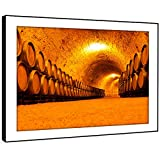 BFC651E encadrée Photo Print Wall Art - fût en fût sous-sol cave moderne Paysage panoramique Salon Chambre Piece Home Décor Facile Guide Accrocher (86X61cm)
