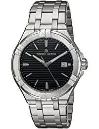 Maurice Lacroix Men's 'Aikon' Quartz Stainless Steel Casual Watch, Color:Silver-Toned (Model: AI1008-SS002-331-1)