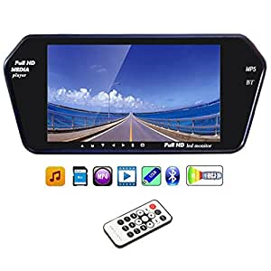 Speedwav 7 Inch Rear View Mirror Screen With Bluetooth+USB+SD Card