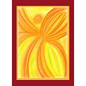 Engelkarten, Trauerkarten Set mit Umschlag, Beileidskarten, Kondolenzkarte, 2er Set, Kondolenzkarten, Engel,