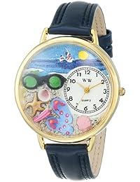 Whimsical Watches WHIMS-G1210015 - Reloj analógico de cuarzo para mujer con correa de piel, color azul