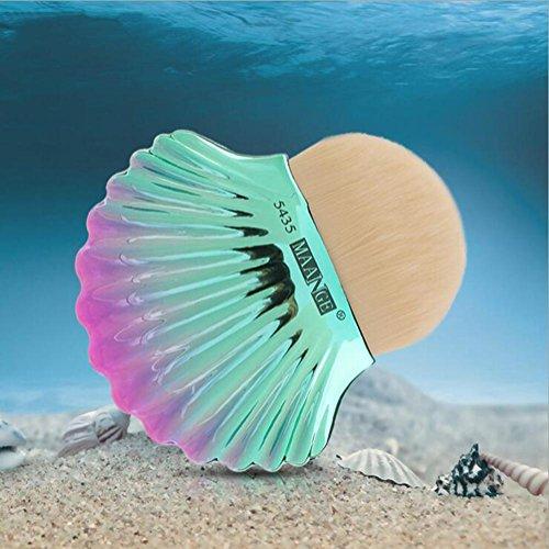 SMX&xh 3pcs Fondation fard à joues maquillage pinceau forme de coquille tête ronde beauté maquillage brosse outils