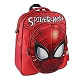 Spiderman 3D Mochila infantil, 41 cm, Rojo