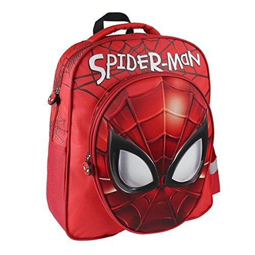 Marvel spiderman 2100001987 - faccia 3d effect size 41 centimetri zaino