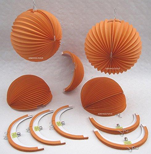 cm STD 10 orangefarbene Papierlampions kaufen ()