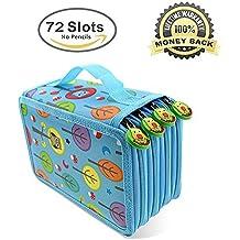 Lápiz Bolsas de gran capacidad, Moliker 72 ranuras Super Multi - capa de estudiantes lapiz lapiz de color / rollo bolsa / Oficina de la escuela de arte lápiz suave bolsa de arte dibujo (Azul claro)