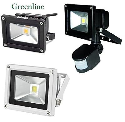 10 Watt Greenline LED Flutlicht Fluter Außenleuchte mit optionalen Bewegungsmelder von Greenline - Lampenhans.de