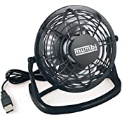 Mumbi Mini USB Desk Fan With On /​ Off Switch Black (Home & Garden)