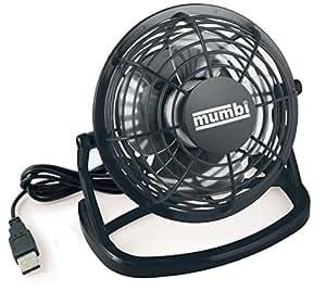 mumbi USB Ventilator Mini für den Schreibtisch mit An/Aus-Schalter, schwarz