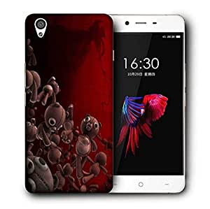 Snoogg Teddy Bears Printed Protective Phone Back Case Cover For OnePlus X / 1+X
