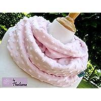 PÜNKTCHEN leichter kuscheliger Schal mit Punkten Loop rosa zartrosa