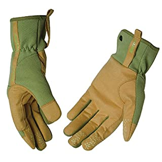 KINCO 2005W-M Women's MiraX2 Synthetic Leather Gloves, Medium, Green/Yellow by KINCO INTERNATIONAL