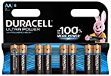Duracell Ultra Power Typ AA Alkaline Batterien, 8er Pack