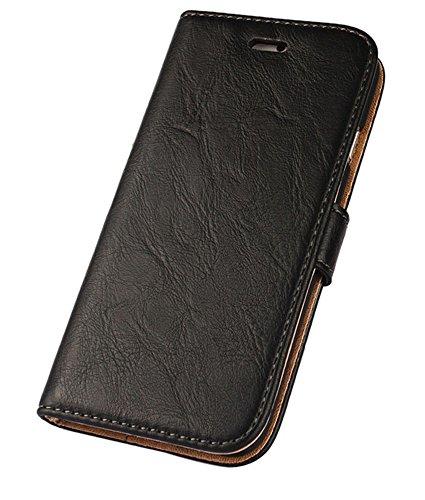 iPhone 6 Plus hülle, iPhone 6s Plus Holster hülle Bookstyle Handyhülle Premium PU Leder Tasche Flip Case Brieftasche Etui Handy Schutz Hülle für Apple iPhone 6 Plus/6 S Plus - Schwarz