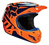 Fox Orange-Blue 2016 V1 Race MX Helmet Size M