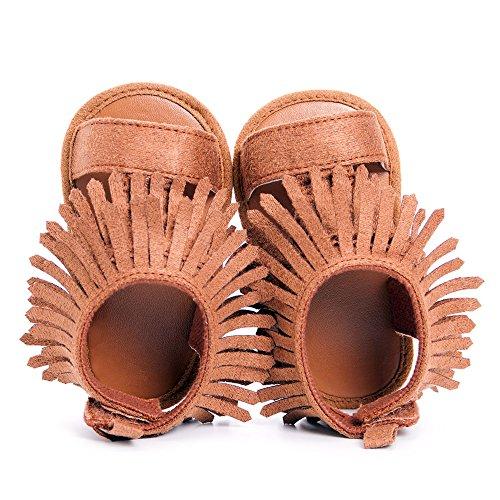 Baby Mädchen Sommer Schuhe Baby sandalen Brown Quaste