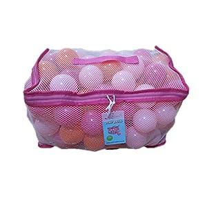 Tech Traders TT100BALL-pink - Bolas de Juegos en Bolsa de Transporte de Malla