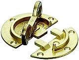 Gedotec Drehriegel Tischbeschlag für Zargentische | Möbelriegel Stahl vermessingt | Dreh-Verriegelung zum Einbohren oder Anschrauben | 1 Stück